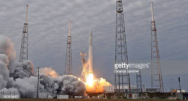 A SpaceX Falcon 9 rocket launches Friday March 1 2013 from Cape Canaveral Air Force Station for its second resupply mission to the International...