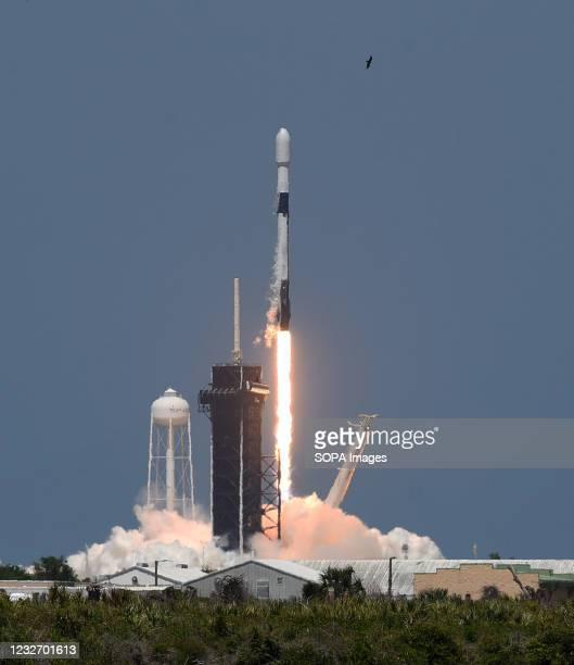 SpaceX Falcon 9 rocket lifts off from pad 39A at the Kennedy Space Center carrying the 26th batch of 60 satellites as part of SpaceXs Starlink...