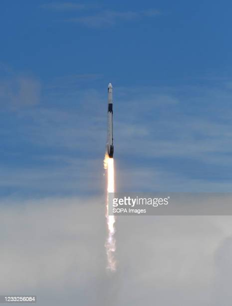 SpaceX Falcon 9 rocket with a Dragon 2 spacecraft carrying supplies to the International Space Station lifts off from pad 39A at the Kennedy Space...
