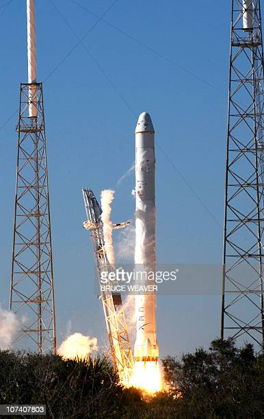 SpaceX's Falcon 9 rocket lifts off on December 8 2010 from launch pad 40 at Cape Canaveral Florida SpaceX on Wednesday successfully launched the...
