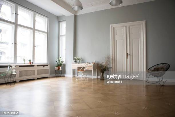 spacious living room - empty room stock pictures, royalty-free photos & images