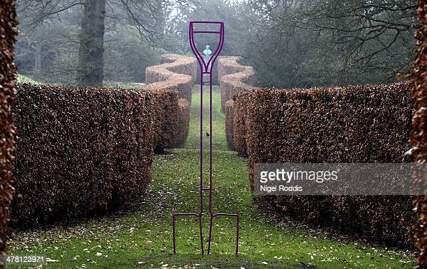 Spade, by artist Michael Craig-Martin, which is part of a new exhibition of his work at Chatsworth House on March 12, 2014 in Chatsworth, England....
