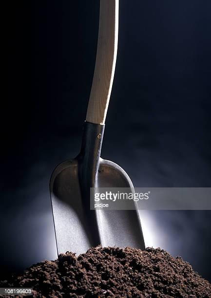 スペードの土壌のコレクション - スコップ ストックフォトと画像
