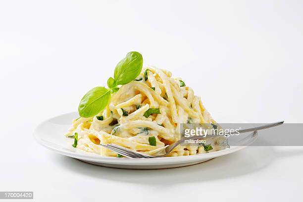 Spaetzle noodles with cheese sauce