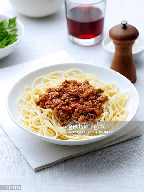 Spaghetti Bolognaise on plate