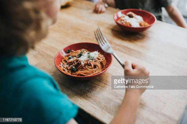 spaghetti bolognese - pasta stock pictures, royalty-free photos & images