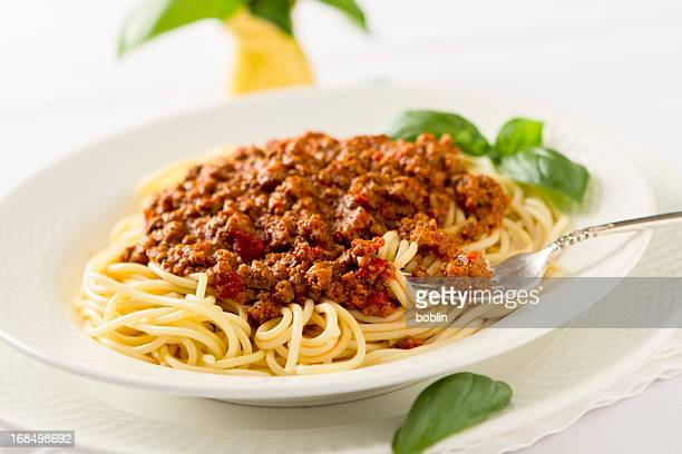spaghetti bolognese - ground beef stock pictures, royalty-free photos & images