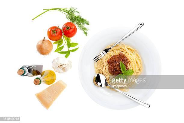 Esparguete à Bolonhesa componentes