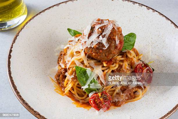 Spaghetti Bolognese with Meatball