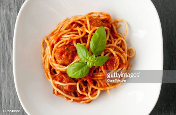 spaghetti & meatballs - pasta stock pictures, royalty-free photos & images