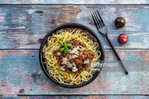 Spaghetti mit vegetarischer Bolognese