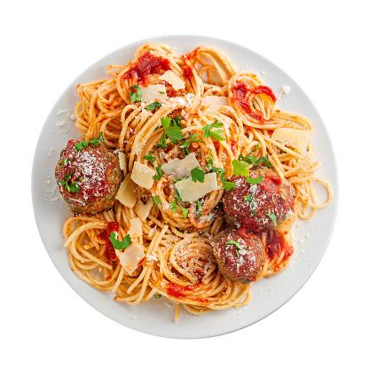 Spaghetti pasta with meatballs 1155681995