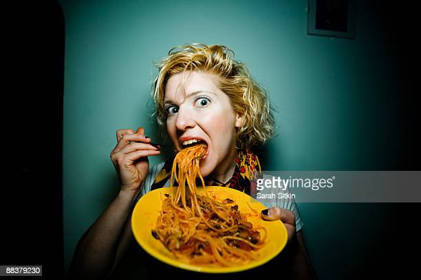 spaghetti spook - over eating stock pictures, royalty-free photos & images