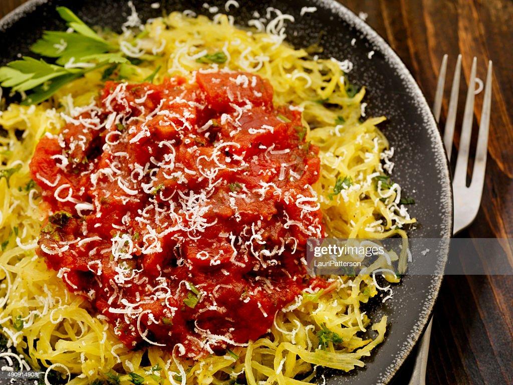 Spaghetti Squash with Tomato Sauce : Stock Photo