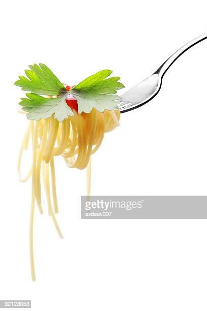 Spaghetti à la sauce tomate et persil