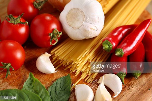 spaghetti & vegetables