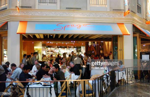 Spago Restaurant at Caesars Palace Hotel and Casino is seen on May 30 2002 in Las Vegas Nevada