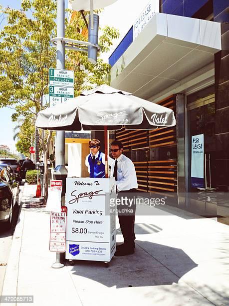 Spago Restaurant in Beverly Hills, Valet parking