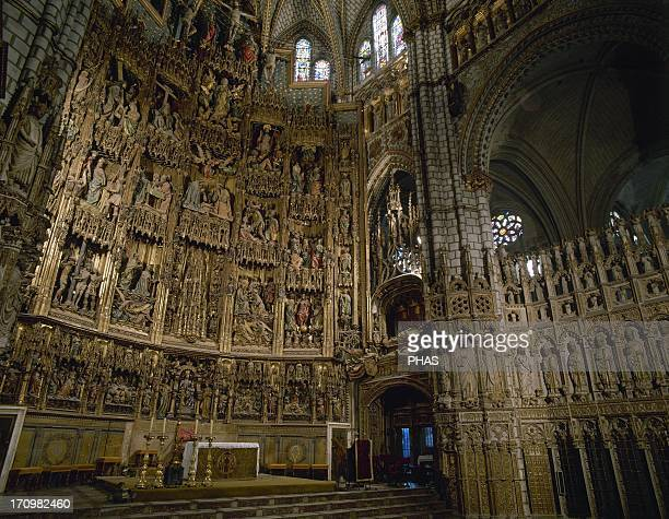 Spain 15th and 16th century Altarpiece of the Cathedral of Toledo depicting scenes of Christ's life Polychrome wood Among the architects painters and...