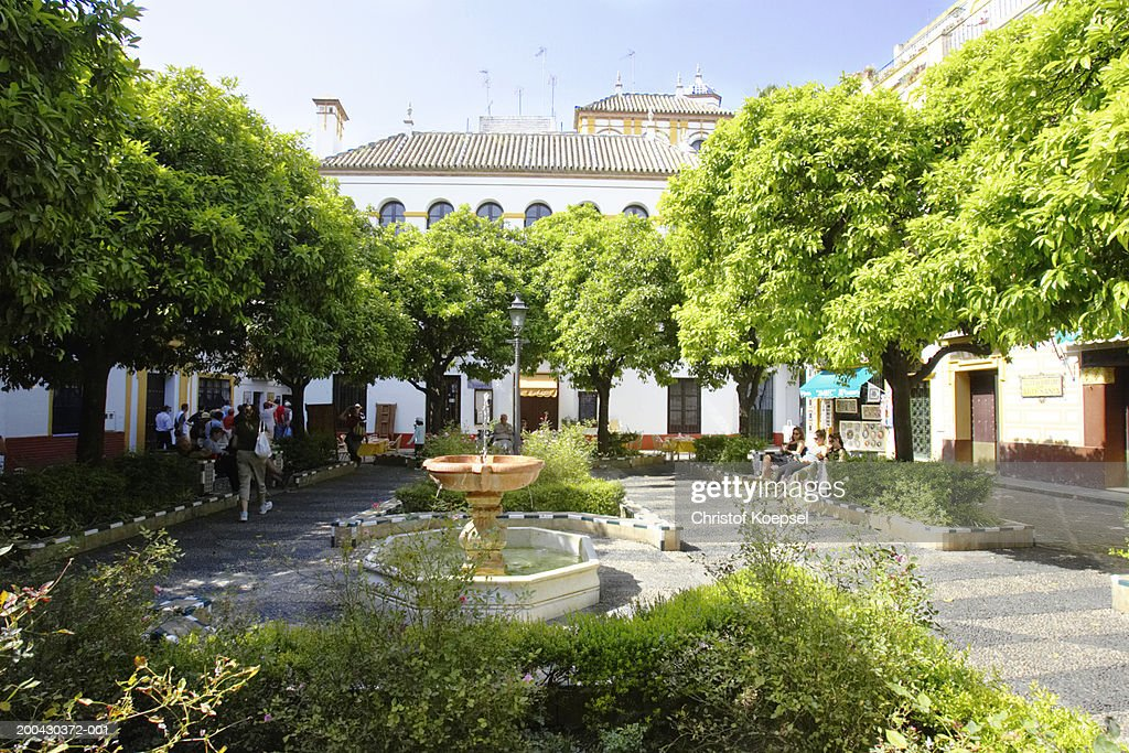 Spain, Andalucia, Seville, Plaza de San Francisco : Bildbanksbilder