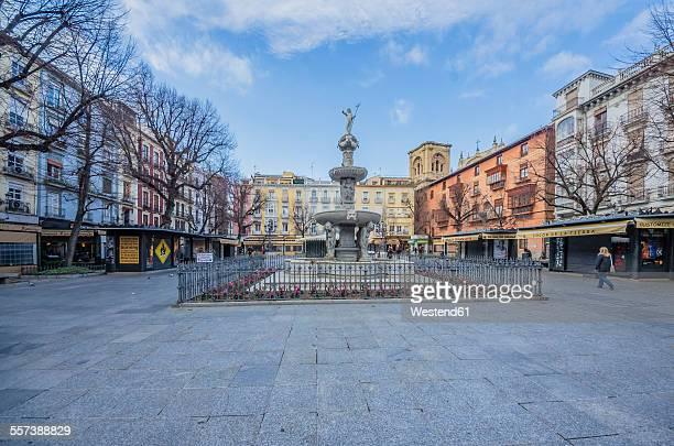 spain, andalusia, granada, plaza de bib-rambla - granada stock photos and pictures