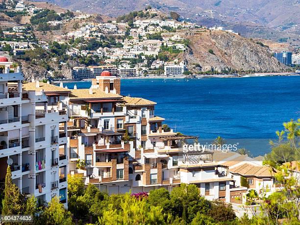 Spain, Andalusia, Grenada, Costa de Tropical, View of La Herradura, houses