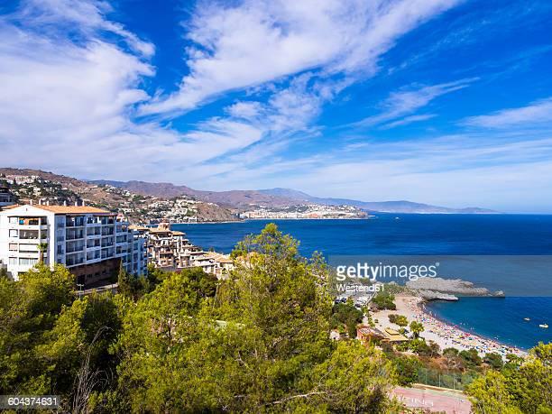 Spain, Andalusia, Grenada, Costa de Tropical, View of La Herradura