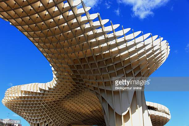 Spain Andalusia historic center of Seville the Metropol Parasol is a work of art on the square Plaza de la Encarnacion