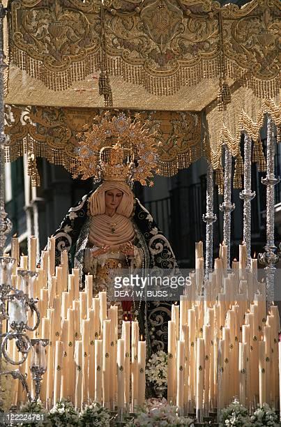 Spain Andalusia Malaga Holy Week Palm Sunday procession
