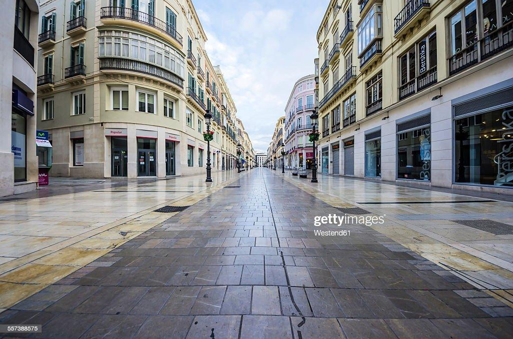 Spain, Andalusia, Malaga, shopping street : Stock-Foto