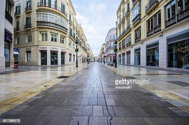 spain, andalusia, malaga, shopping street - stadtzentrum stock-fotos und bilder