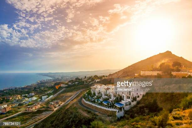 Spain, Andalusia, Marbella at sunset