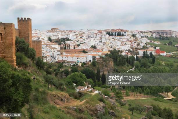spain, andalusia, málaga province, ronda, arab walls murallas de levante - málaga málaga province ストックフォトと画像