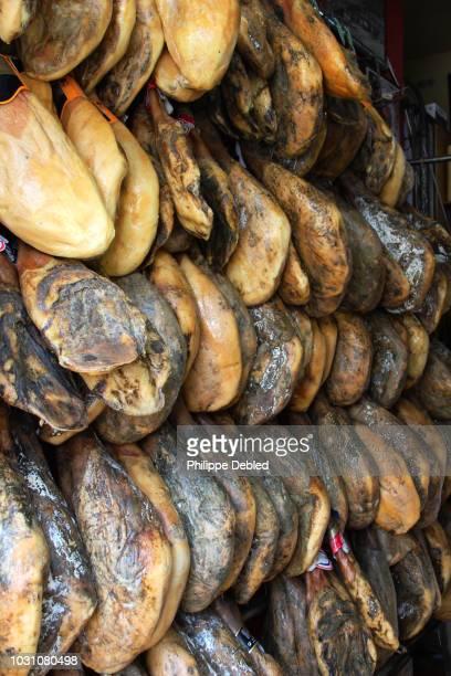 spain, andalusia, málaga province, ronda, famous sapish ham - málaga málaga province ストックフォトと画像