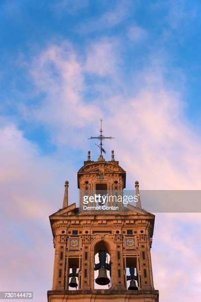 spain, andalusia, seville, la macarena, bell tower of santa paula monastery - nonnenkloster stock-fotos und bilder