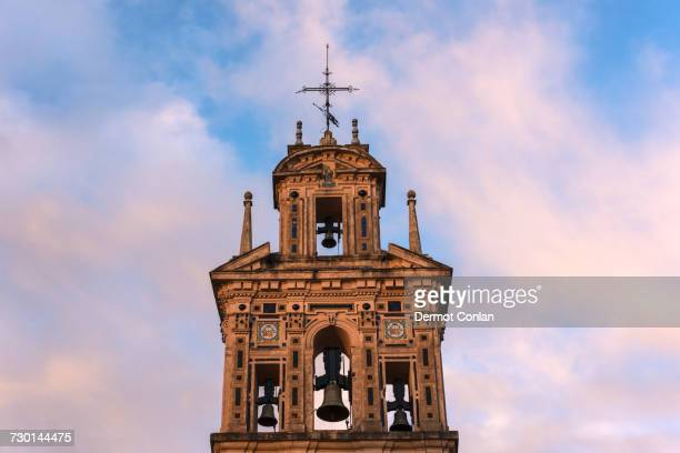 spain, andalusia, seville, la macarena, bell tower of santa paula monastery - monastery stock pictures, royalty-free photos & images