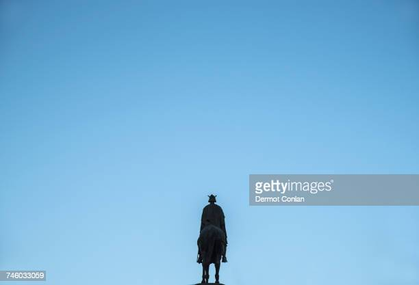 Spain, Andalusia, Seville, Plaza Nueva, Equestrian monument of king Ferdinand III