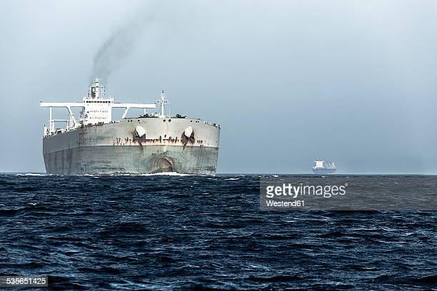 Spain, Andalusia, Strait of Gibraltar, Oil tanker