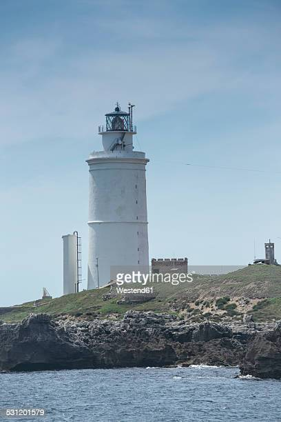 Spain, Andalusia, Tarifa, Lighthouse Faro de Punta de Tarifa on Paloma Island