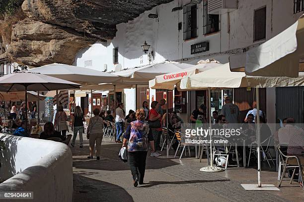 Spain, Andalusia, white village in the Sierra de Grazalema, Setenil de las Bodegas is a small village between Ronda and Olvera in the province of...