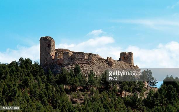 Spain Aragon Calatayud Castle and walls of the complex of Castle of Calatayudm muslim monument 9th10th centuries Province of Zaragoza