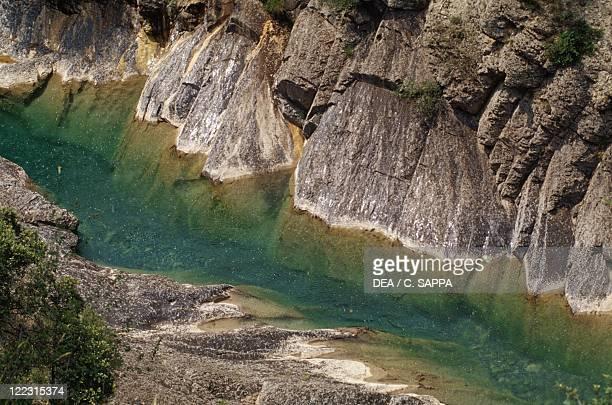 Spain - Aragon - Ordesa y Monte Perdido National Park - Canyon de Anisclo, Rio Bellos.