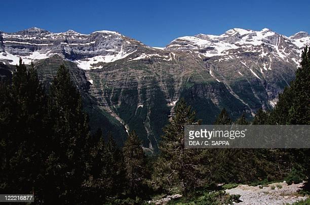 Spain - Aragon - Ordesa y Monte Perdido National Park - Pineta Valley. Las Tres Marias.