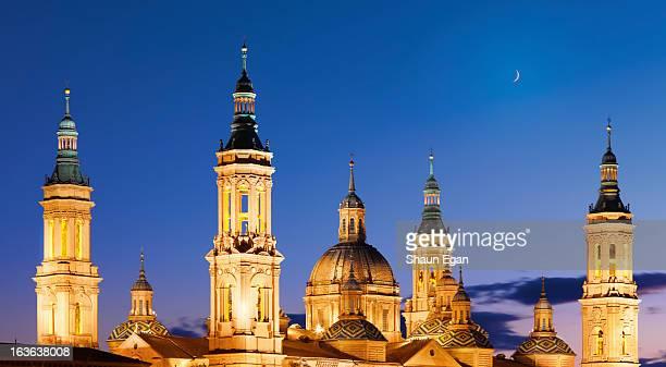 spain, aragon region, zaragoza, basilica del pilar - zaragoza province stock pictures, royalty-free photos & images