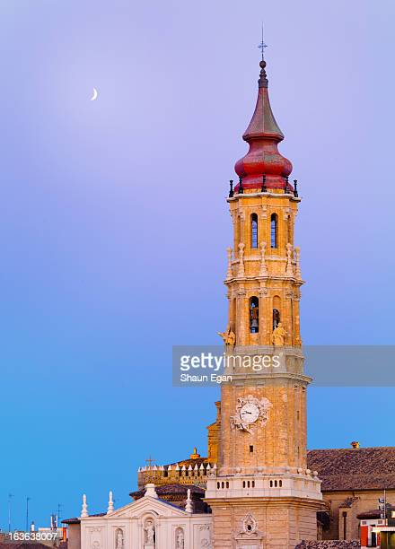spain, aragon region, zaragoza, la seo cathedral - zaragoza province stock pictures, royalty-free photos & images