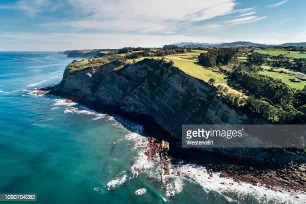 Spain, Asturias, Aerial view of beach