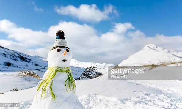 Spain, Asturias, portrait of a snowman