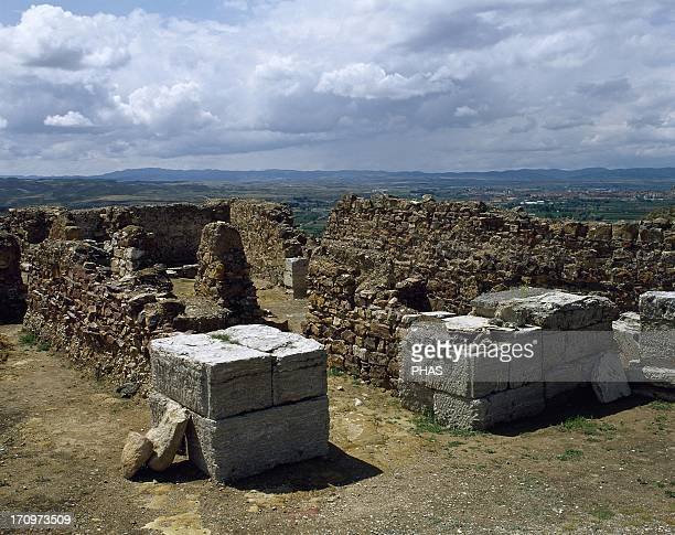 Spain Augusta Bilbilis Iberoroman city 3rd century BC Remains