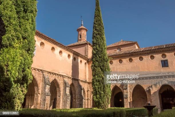 Spain, autonomous community of Aragon, cloister of the Cistercian Monasterio de Piedra
