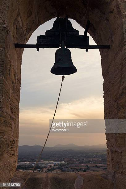 Spain, Baleares, Mallorca, bell tower of Fort Capdepera